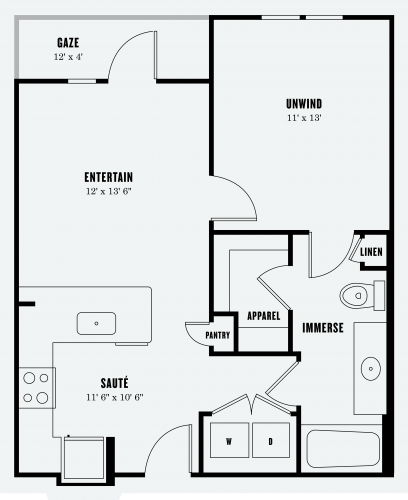 Alexan Summit One Bedroom Floor Plan A1