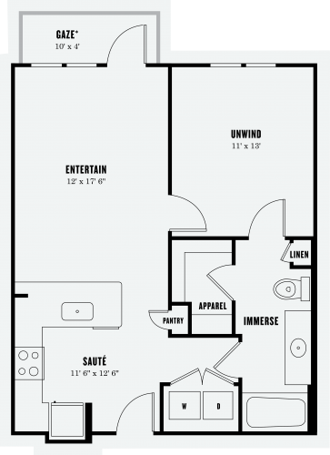 Alexan Summit One Bedroom Floor Plan A2