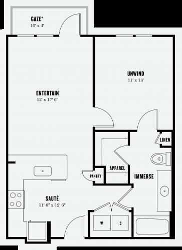 Alexan Summit One Bedroom Floor Plan A2