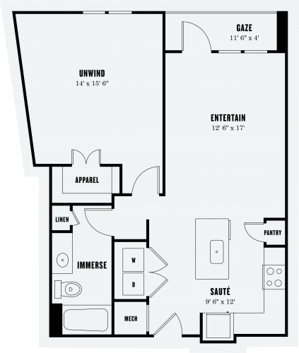 Alexan Summit One Bedroom Floor Plan A3a