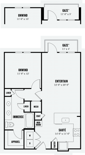 Alexan Summit One Bedroom Floor Plan A5