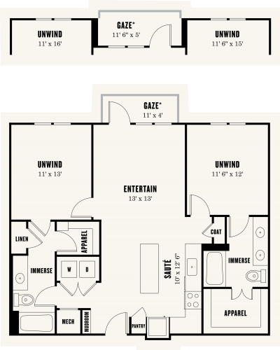 Alexan Summit Two Bedroom Floor Plan B2