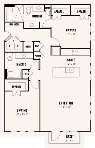 Alexan Summit Two Bedroom Floor Plan B4