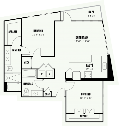 Alexan Summit Two Bedroom Floor Plan L2