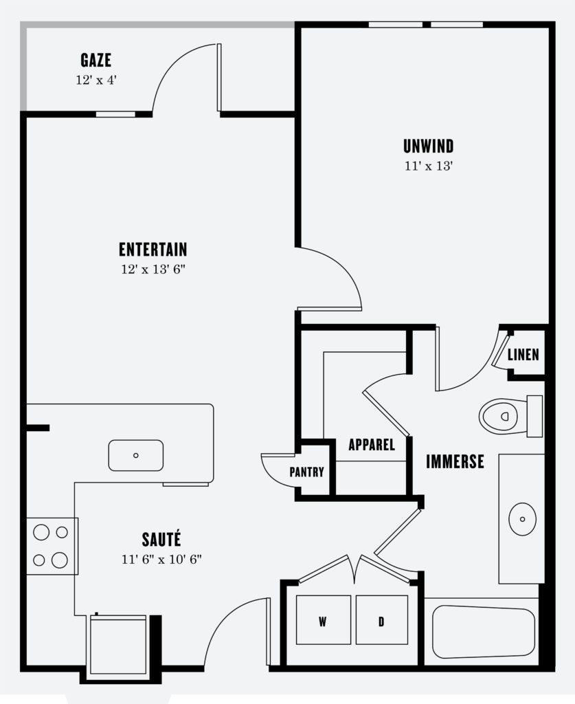 Alexan Summit One Bedroom Floor Plan