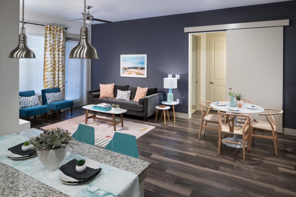 Alexan Summit apartment interior living room