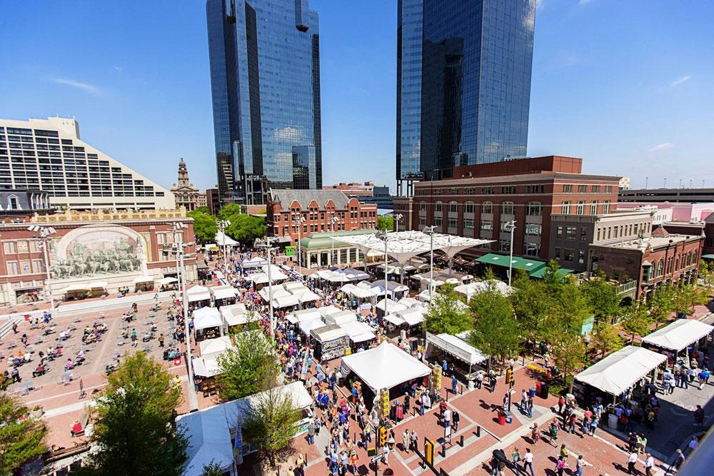 Downtown Fort Worth street market