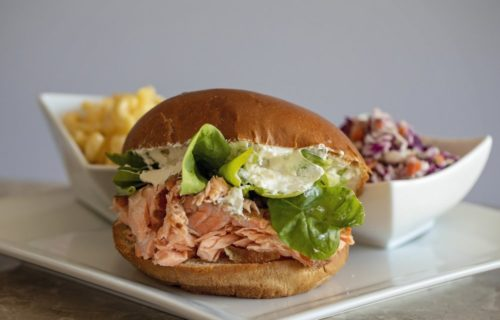 Smoked salmon sandwich - Dine-In at 360 Smoke Shack