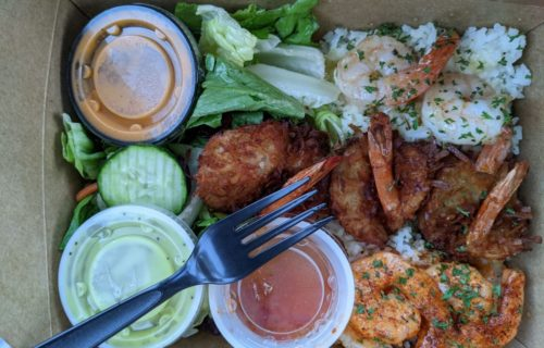 sampler platter - pic by Jodi H. on Yelp - Takeout from Coco Shrimp Restaurant